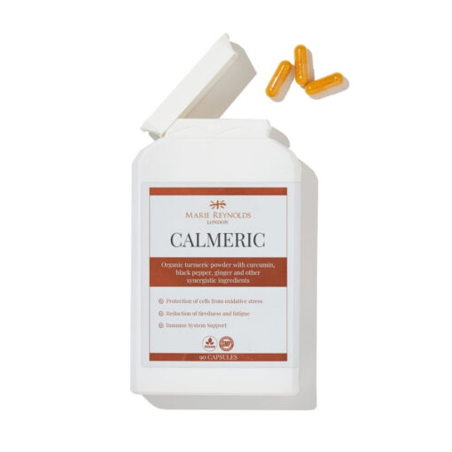 Marie Reynolds Calmeric Supplements at Pauline Cawley Front